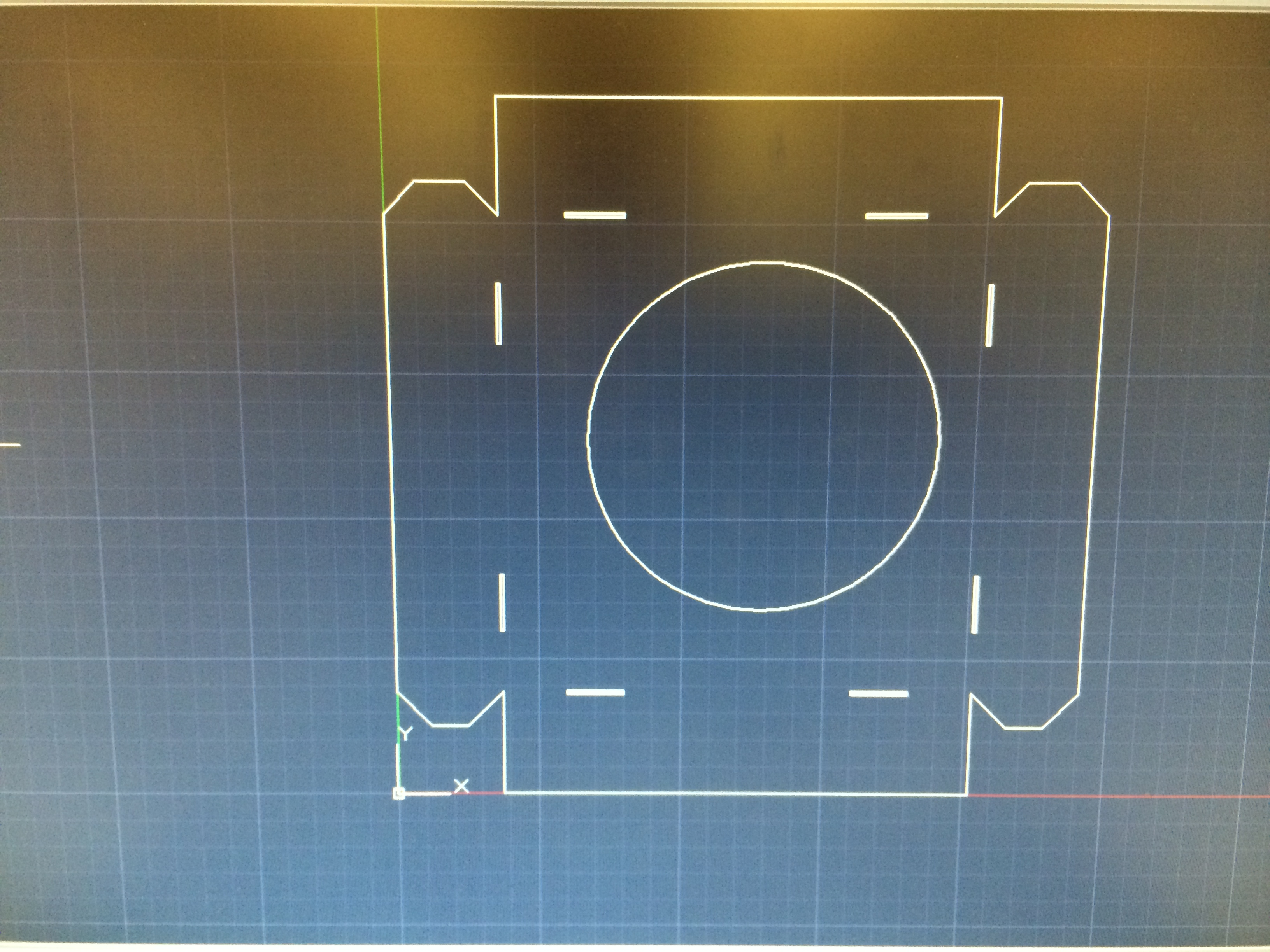 Picture of Laser Cut a Template for a Sheetmetal Box (flat Pattern)