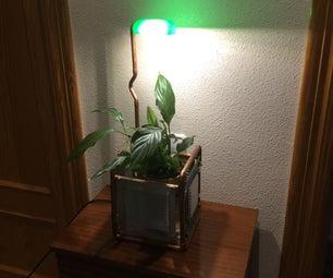 Steampunk Lamp Planter