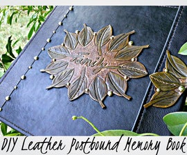 DIY Leather Postbound Memory Book