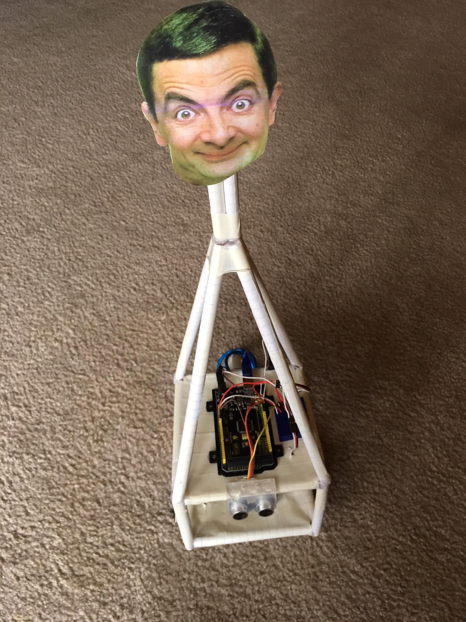 Picture of BeanBot - an Arduino Based Autonomous Paper Robot!
