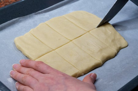 Transfer and Cut the Dough