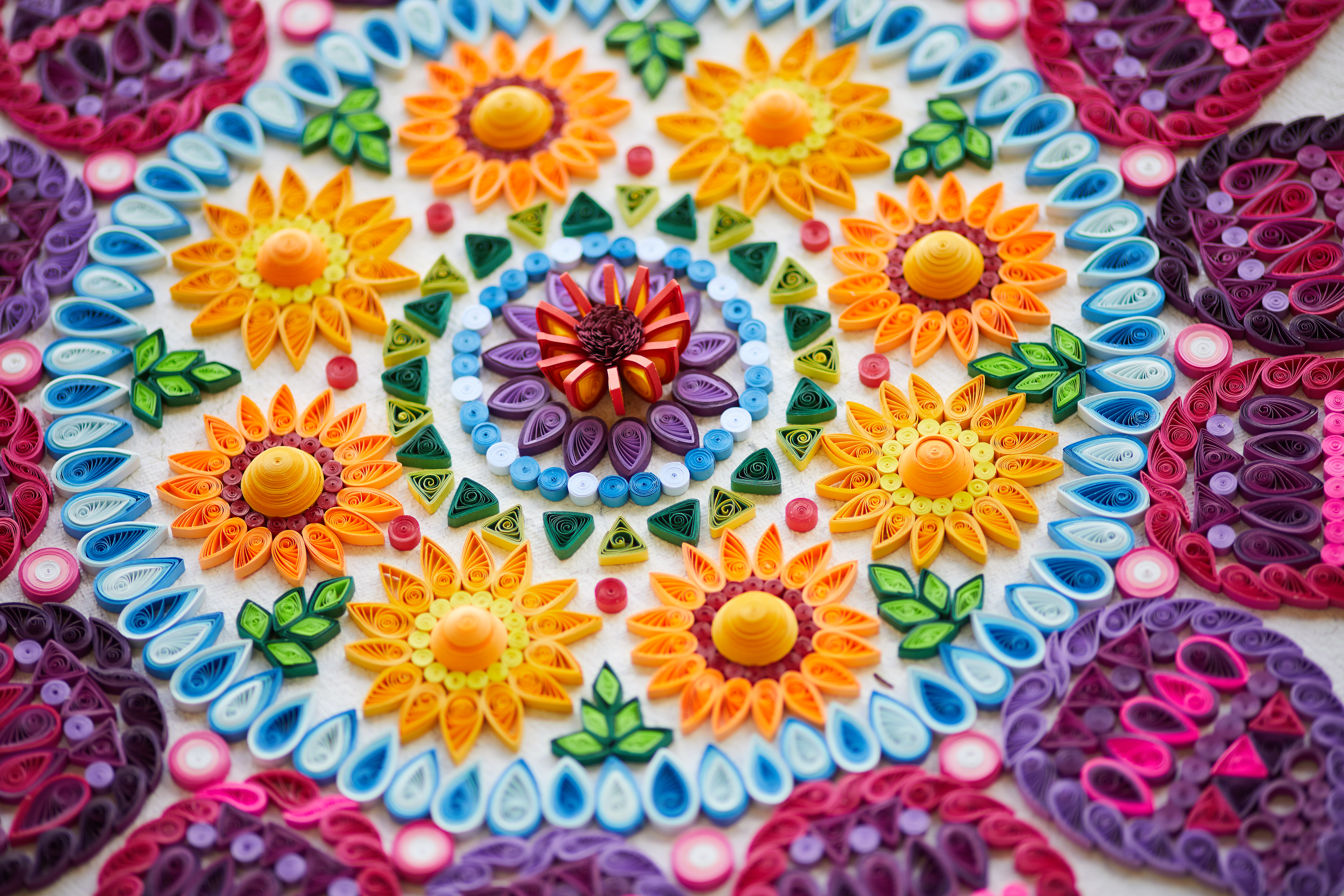 Picture of A Meter Big Quilled Mandala!