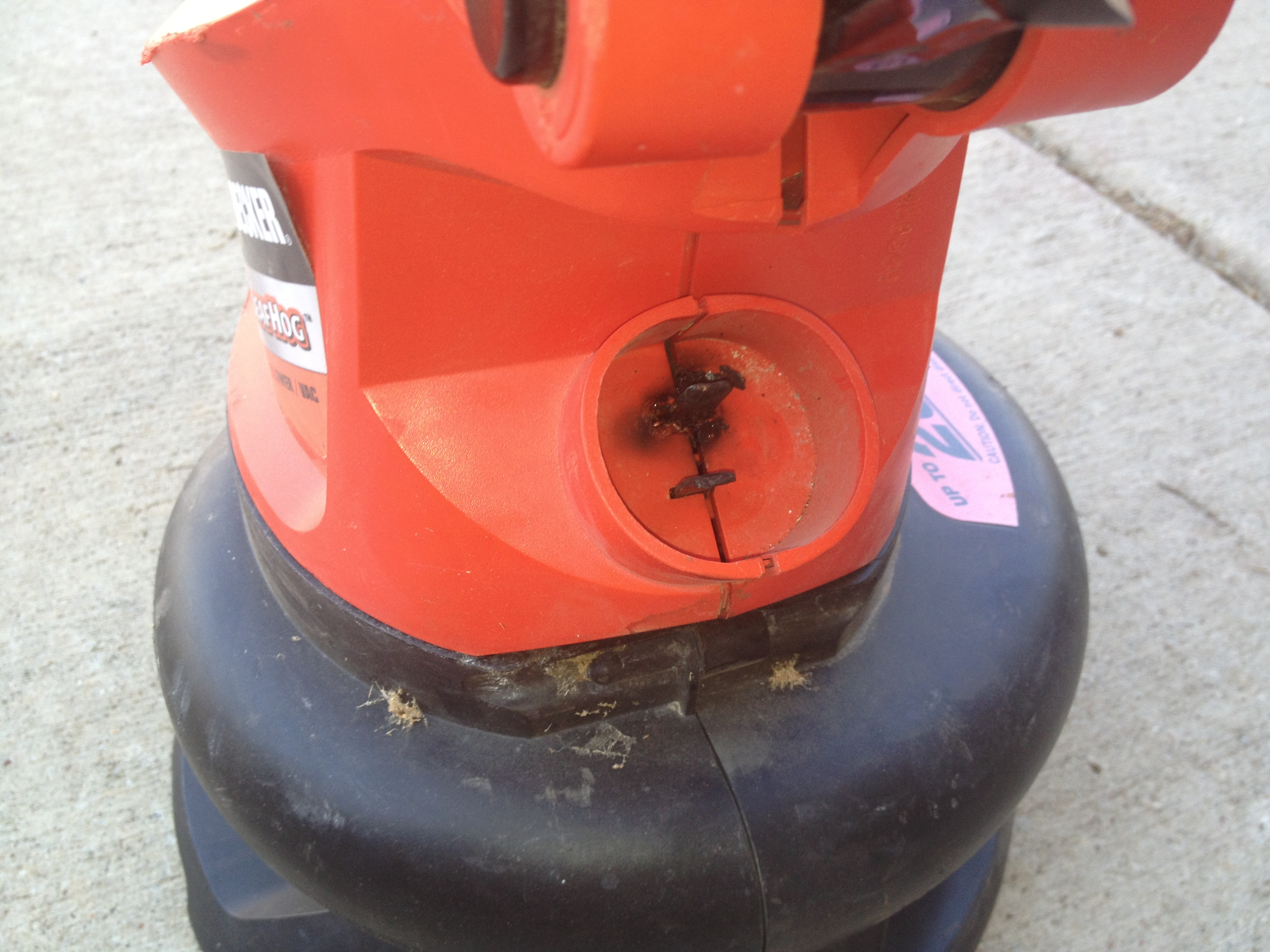 Picture of Rigging an Electric Leaf Blower Cord, That Almost Caught on Fire and Killed Me