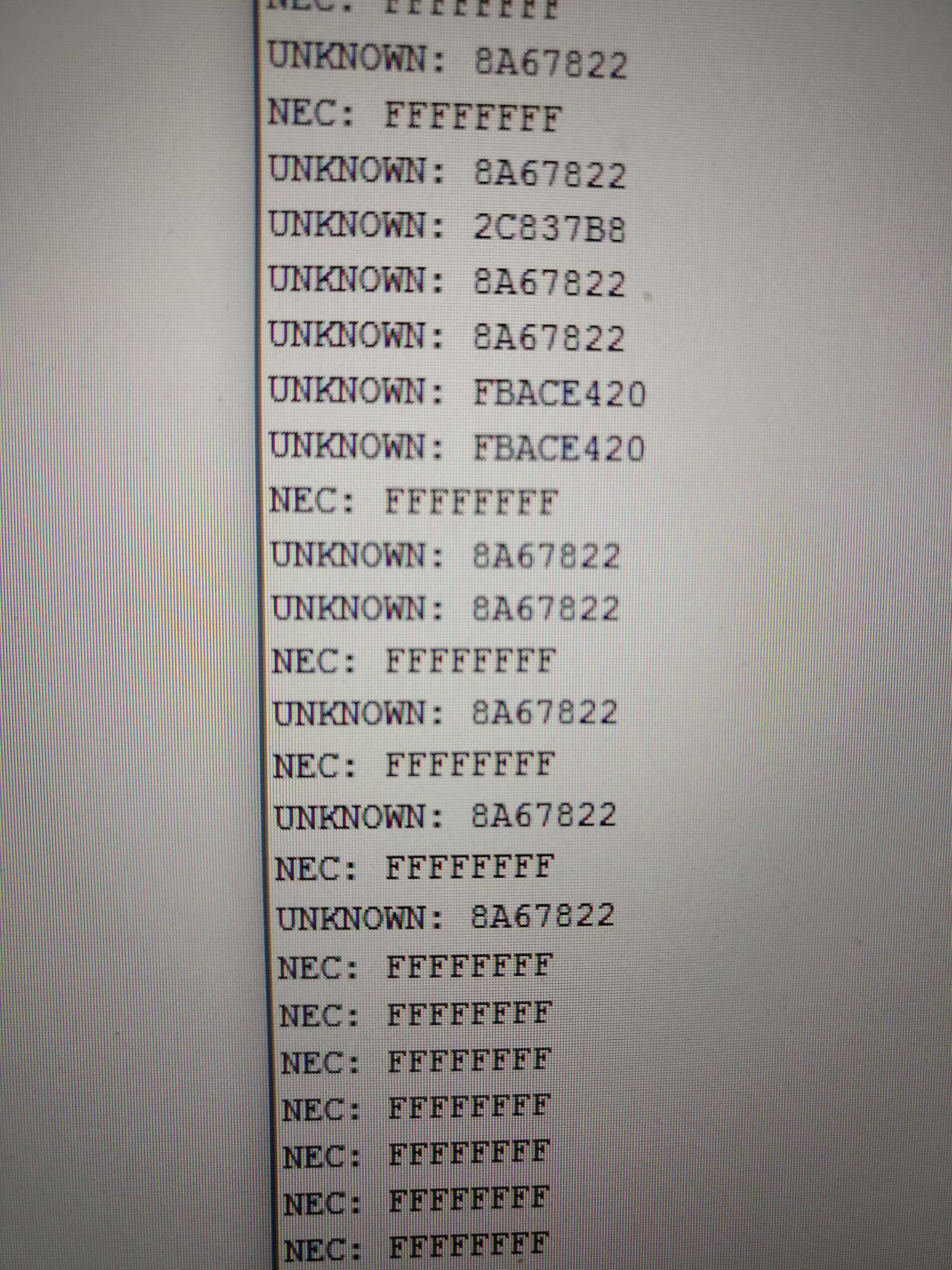 Picture of Getting the IR Codes From Your Remote
