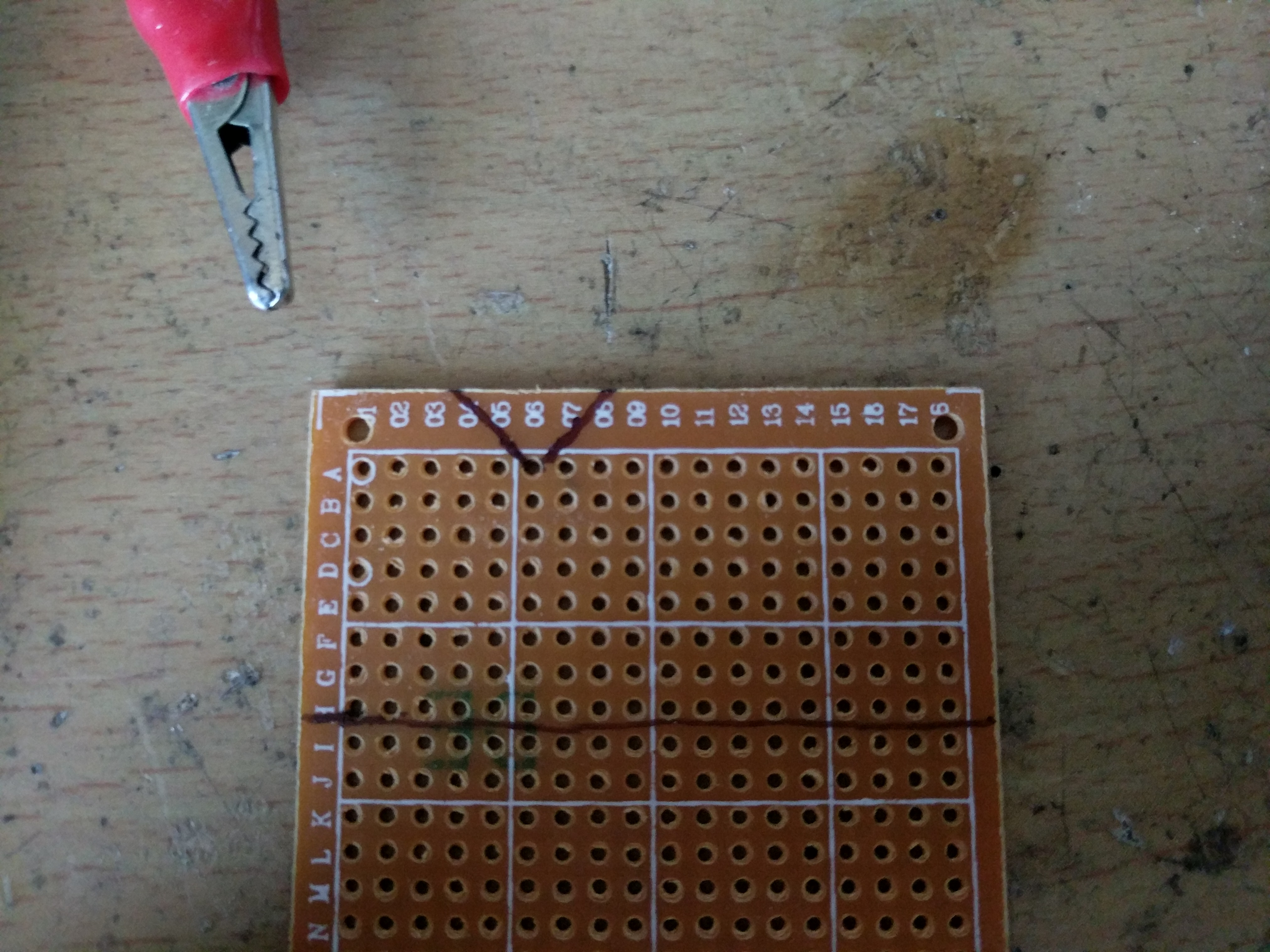 Picture of Cutting the Perf-board