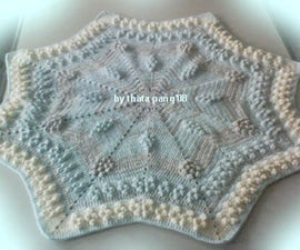 Star Pop Corn Baby Blanket