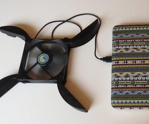 3D Printed Portable Laptop Cooler Pad