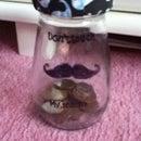 'Don't Touch My Stache' Money Jar