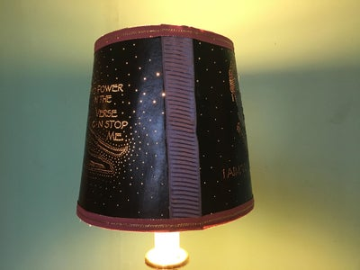 Put the Finished Lampshade on the Lamp, and Turn It On!