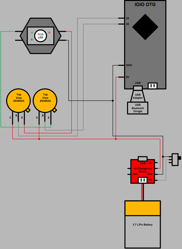 Picture of LiteBeam Schematic & Parts