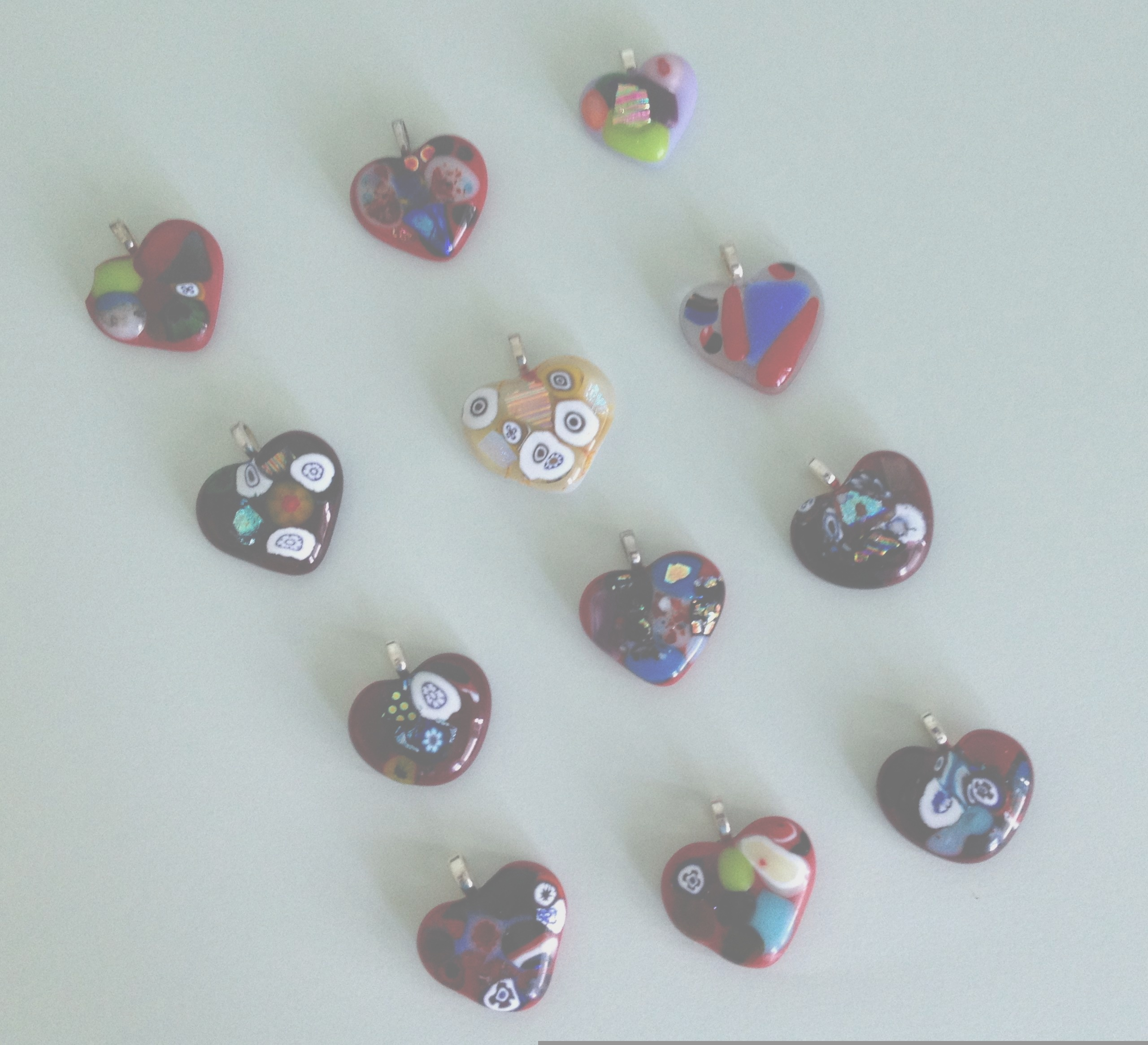 Picture of Fused Glass Hearts