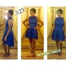 DIY Turtleneck High Low Dress