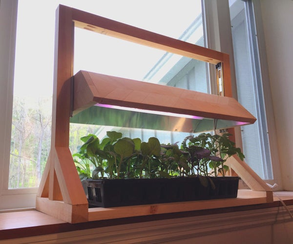 Variable Adjustment Grow Light Build for Plant Starts and Microgreens
