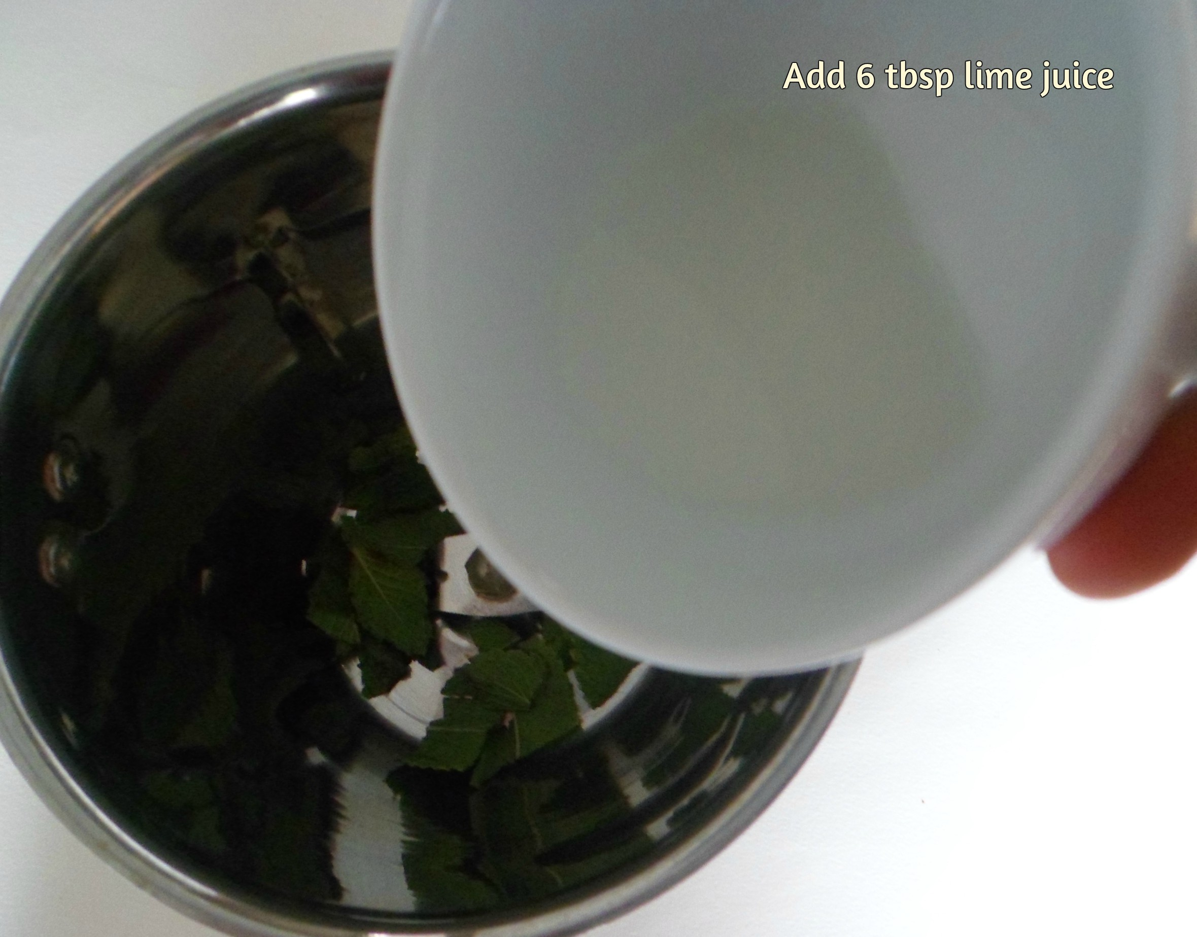 Picture of Take Mint Leaves and Lemon Juice
