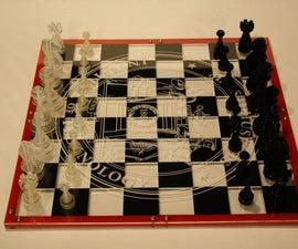 Custom Acrylic Chess Board