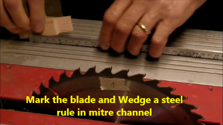 Setting Up a Steel Rule in the Mitre Channel