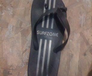 Emergency Fix for a Broken Sandal (flip-flop)