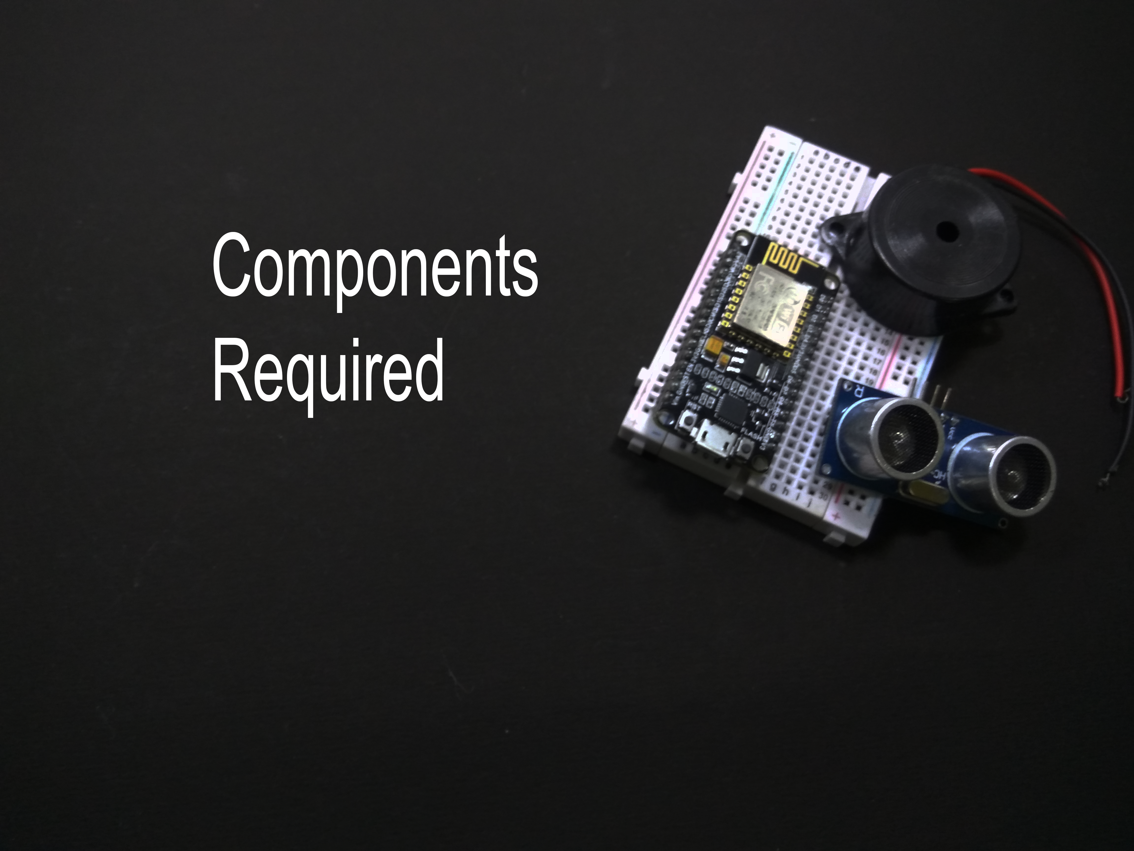 Picture of Components Required :