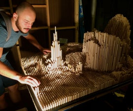 Transform an image into a dowel rod sculpture