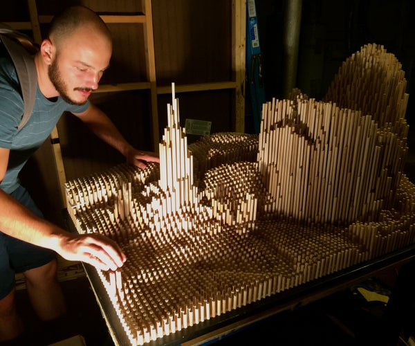 Transform an Image Into a Dowel Rod Sculpture
