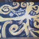 Doctor Who TARDIS Explosion Painting