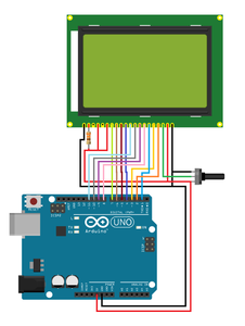 Wiring the Graphics Module to Arduino UNO