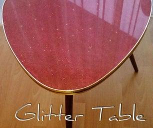 GLITTER TABLE
