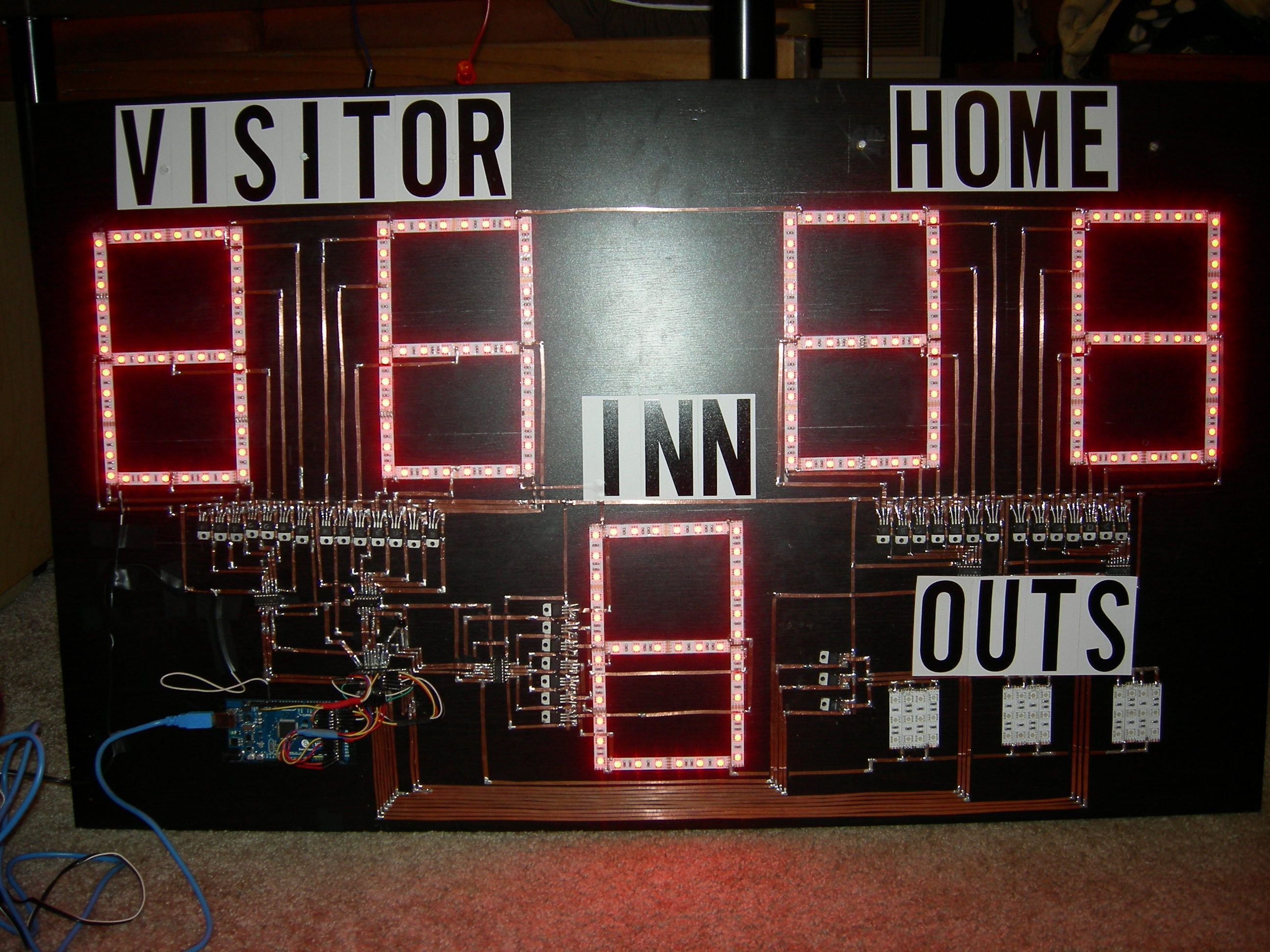 led strip projects remote controlled arduino scoreboard using led strips