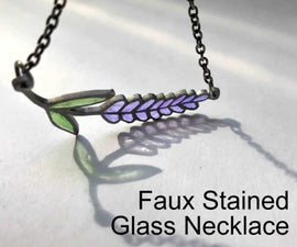 Faux Stained Glass Necklace