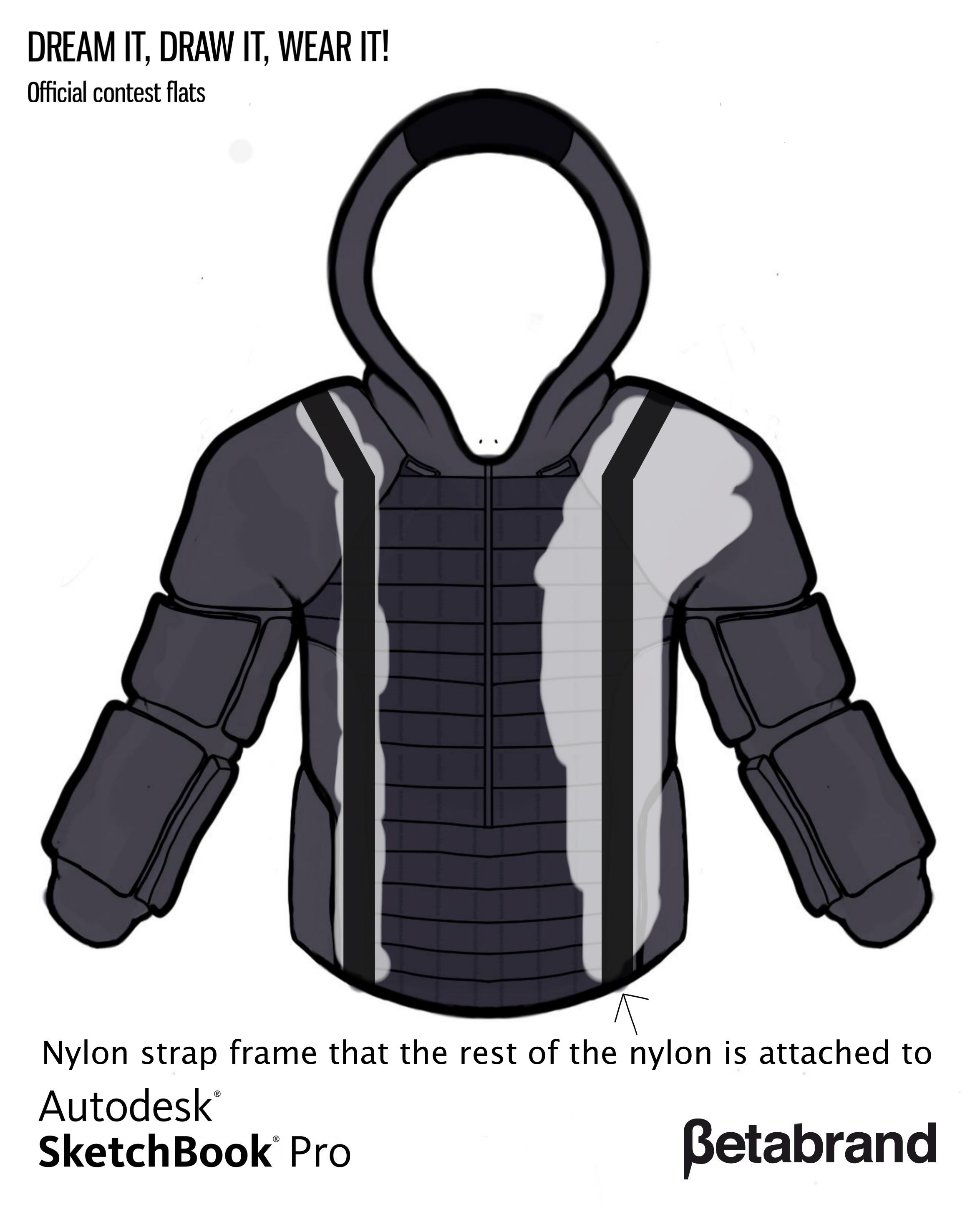 Picture of Detailed Description of Hoodie [Nylon Frame]