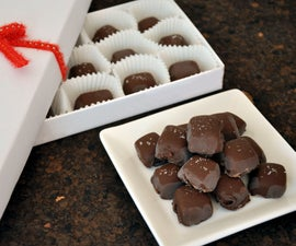 Easy Chocolate Covered Caramels