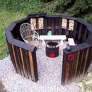 Circular Fire Pit From 12 Upcycled Pallets