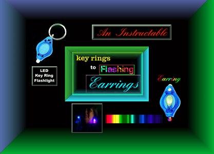 FLASHING RGB LED EARRINGS