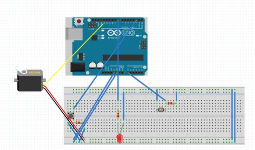 Step 2: LDR, LED's and Servo Motor