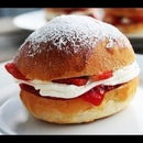 Cream filled buns with Strawberry