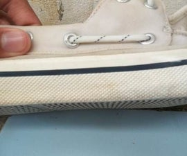 How to Clean the White Middlesole