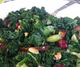 Asian Kale Salad with homemake sesame dressing