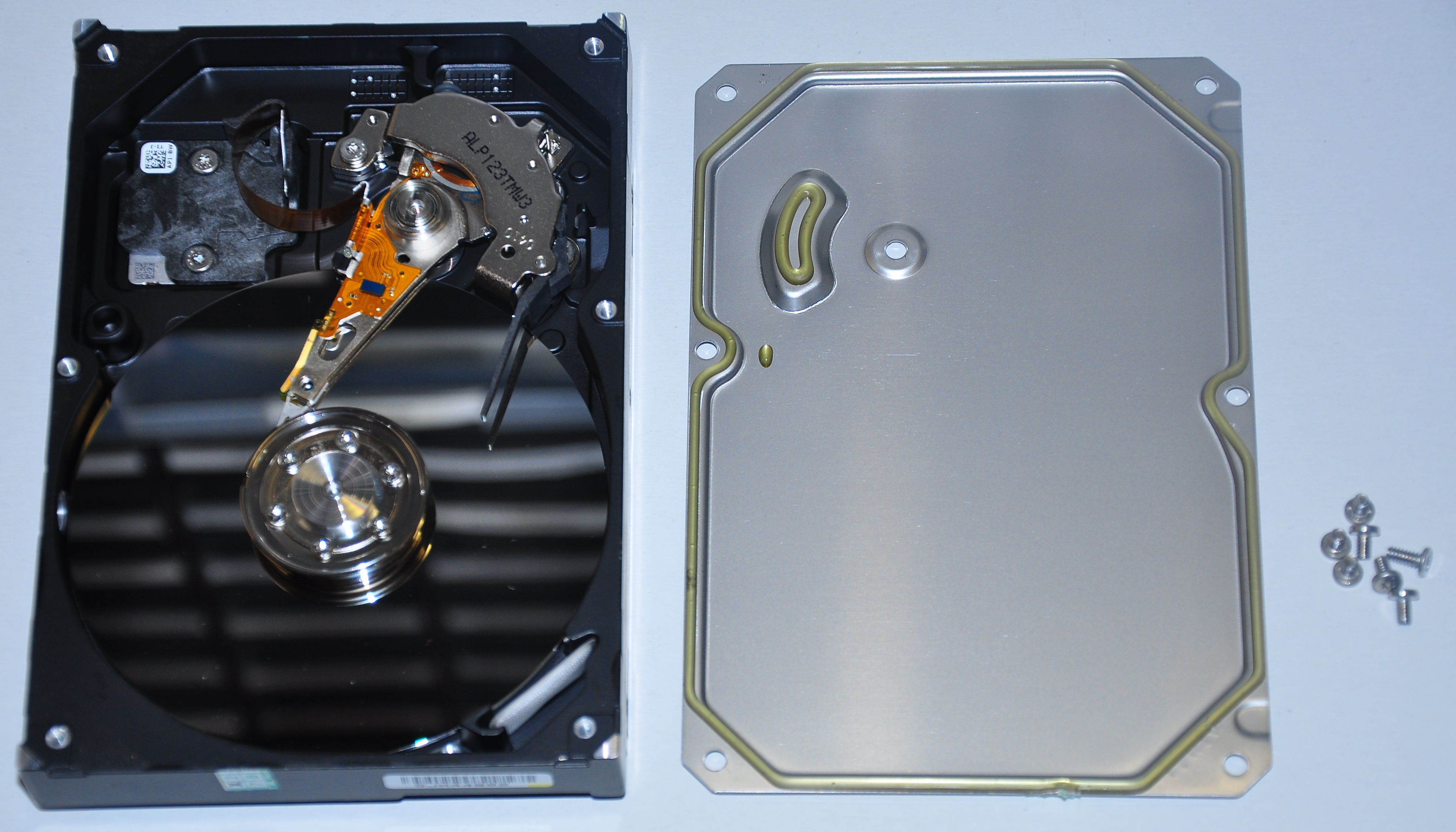 Picture of The Base - Cleaning Off the Hard Drive Unit