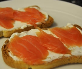 Quick and Easy cheese and salmon toast.