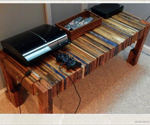 Pallet Wood TV Console Table