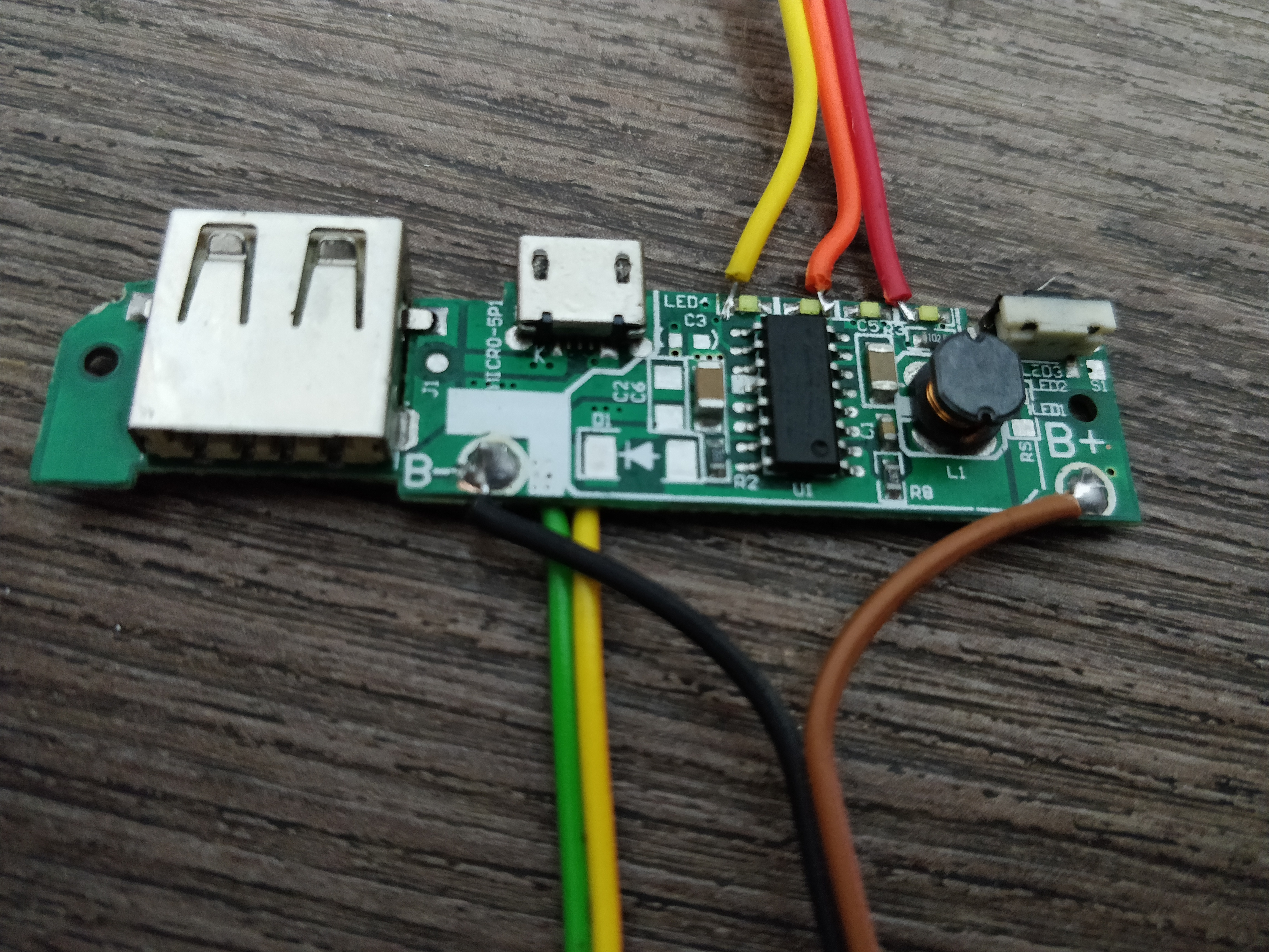 Picture of Power Bank Charger Board and Power Supply Step Up Boost Module for 18650 Battery DIY