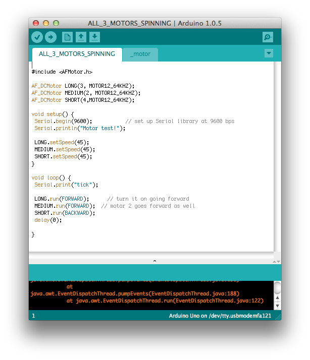 Picture of The Arduino Code