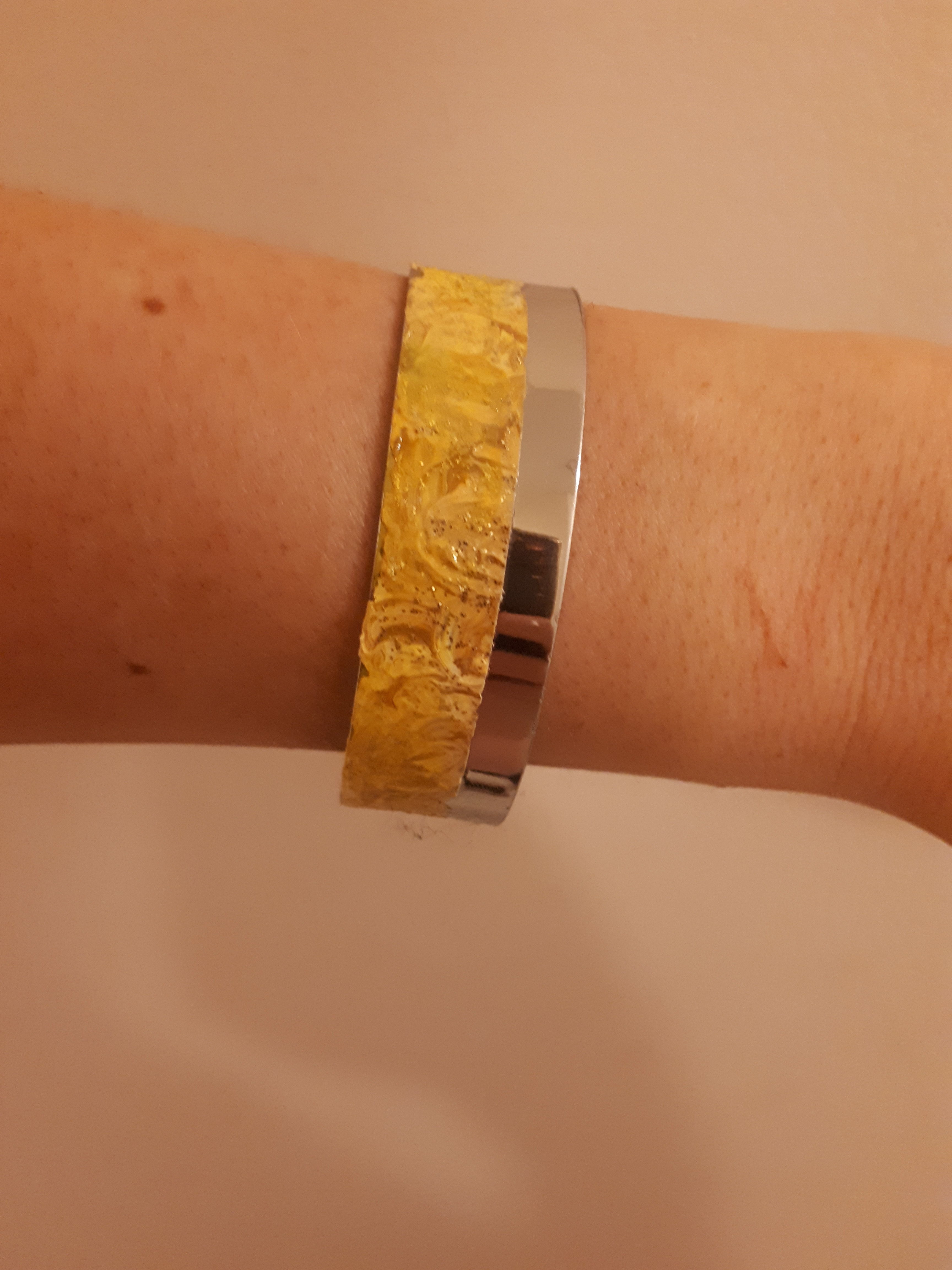 Picture of Yellow Cuff Bracelet
