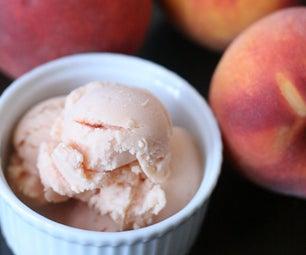 Honey Peach Frozen Yogurt