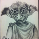 Dobby Charcoal Drawing