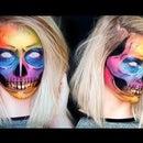 Rainbow Glitter Skull Makeup!