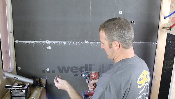 Picture of Pinch Wedi Screws & Washers at Seams
