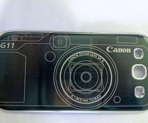 Laser Engraved Brushed Metal Phone Battery Cover/case