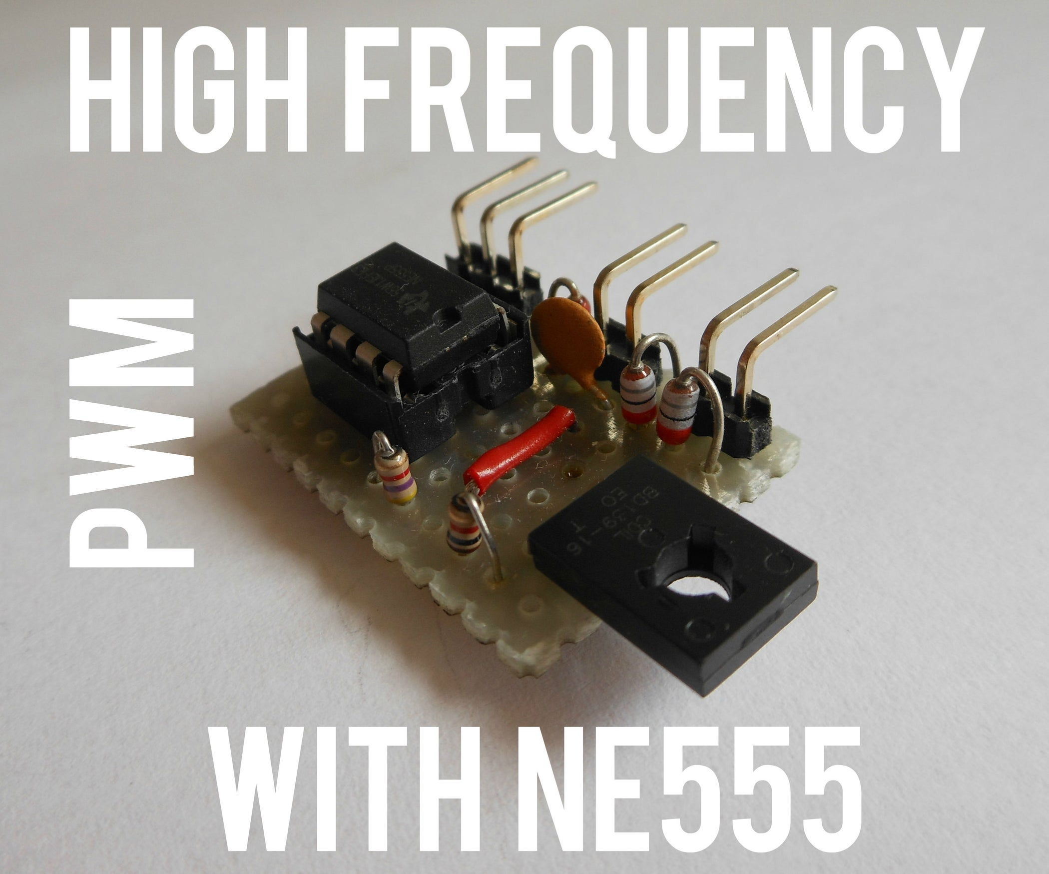 Simplest High Frequency Pwm With Ne555 5 Steps Pictures Circuit Oscillator Lm555 Part 2