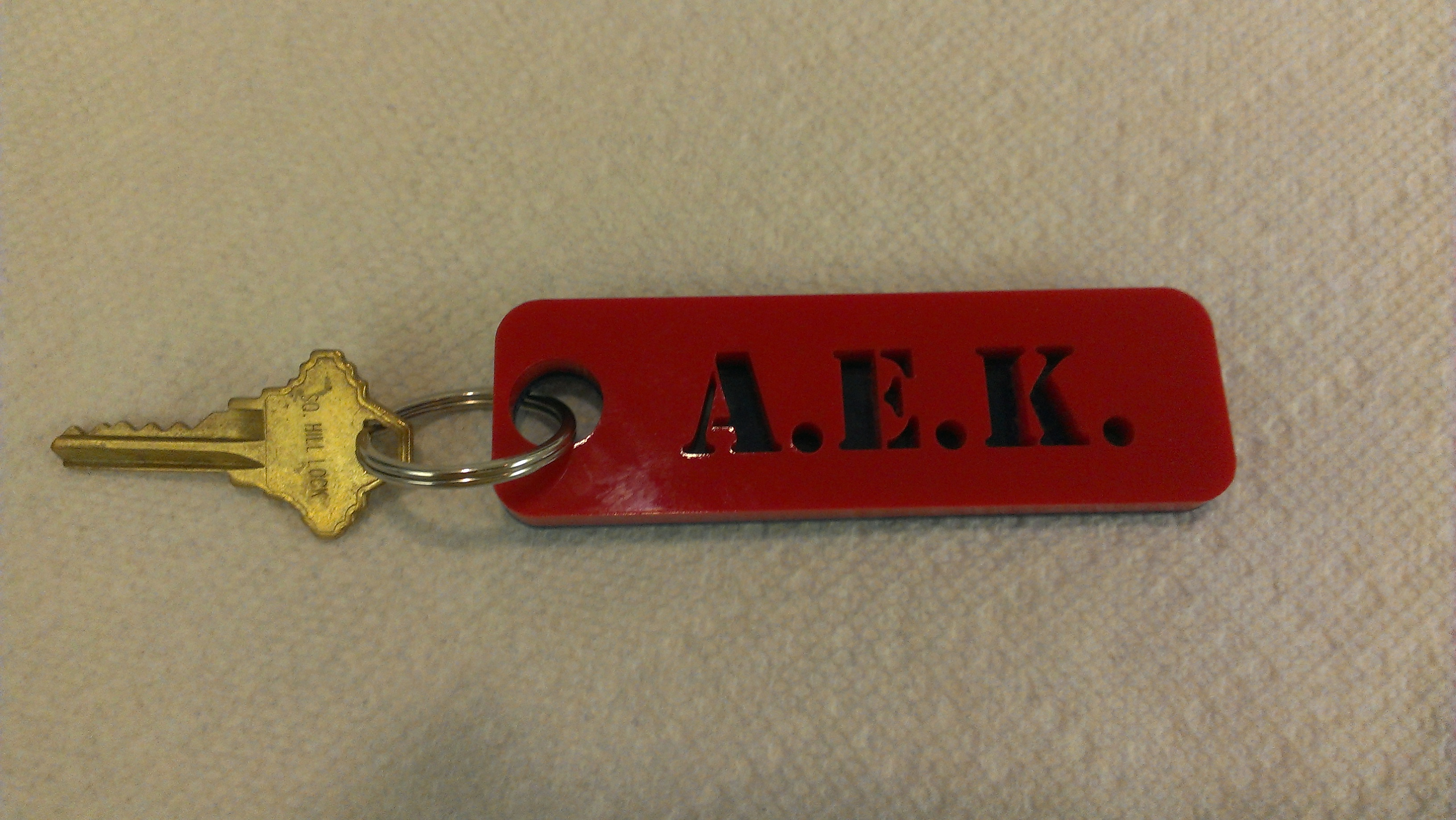 Picture of Laser Cut Acrylic Key Fob